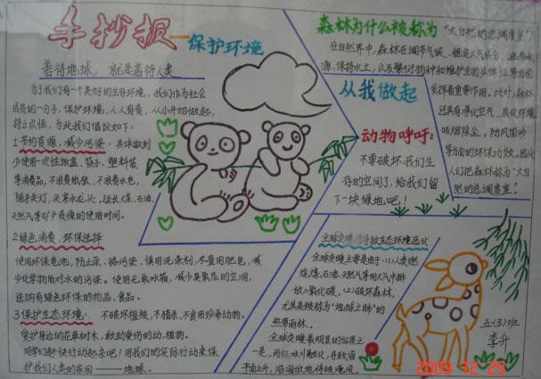 保护环境_手抄报