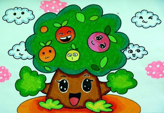 幸福是什么,每个小朋友都会对幸福有自己的想法,那么一棵苹果树的幸福是什么?让图片中的苹果树告诉你吧。健壮苹果树长的十分高大,它拥有浓密且茂盛的枝叶,树上结满了丰收的果实,苹果树最幸福的莫过于让自己茁壮的成长,结出香甜的苹果。成熟的苹果香甜芬芳,让苹果是喜笑颜开,这就是苹果树所期望的,它希望自己可以长出甜美的果实,完成自己的使命。