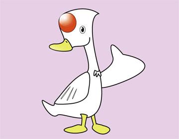 """""""嘎嘎嘎……""""鸭太太带着小鸭子从池塘洗澡回来了."""