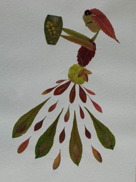 秋天的手抄报 秋天的树叶贴画